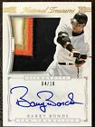 2015 National Treasures BARRY BONDS Silhouette 4-Color Patch On-Card Auto (4 10)