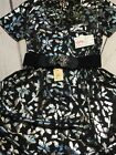 Lularoe Carly Black With Silver Flowers Elegance Collection Gorgeous