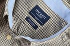 Men's HACKET London Brown Green Gingham Check Sz M Tailored Fit Shirt P-P 20.5""