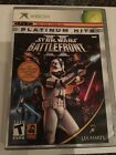 Microsoft XBOX Star Wars Battlefront II Game Manual And Case Good Condition
