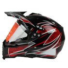 Dual Sport Off Road Motorcycle helmet Dirt Bike ATV DOT Certified Black