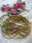 VINTAGE / ANTIQUE TINY DOLL SIZE FRENCH GOLD METAL SOUTACHE TRIM    4 1/2 YARDS