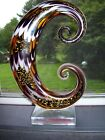 Vintage Unique Large Murano Art Glass Abstract 11 Sculpture with Sticker