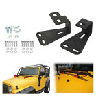 2pcs Hi Lift Jack Hood Mount Bracket Fit For Jeep Wrangler CJ YJ TJ High Lift