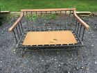 Richard McCarthy For Selrite Mid Century Wrought Iron Industrial Setee/Love Seat