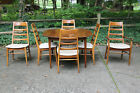 Vintage Heywood Wakefield Dining Table and Chair, Cherry Wood, Doeskin Finish