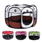 8 Panel Portable Puppy Hund Katze Laufstall Crate Cage Zwinger Zelt Play Pen