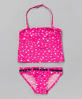 Girls Belted Tankini Set - Size L (14/16) NWT Swinsuit S.W.A.K.  Pink Star