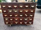 Vintage Steel Metal Industrial Card Catalog 30 Drawer Central Pa Library Cabinet