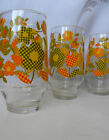 8 Pc. Retro Mod ~Yellow Green Orange~ Flower Power 24 oz. Glass Tumblers
