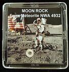 DELUXE EDITION AUTHENTICATED LUNAR METEORITE 12mg Moon Rock Display+Easel f