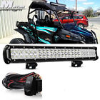 23 Inch LED Light Bar + 2x Led Work Lamp Fit UTV ATV CFmoto ZForce 600 800 1000