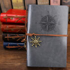 Spiral Notebook Diary Notepad Vintage Pirate Anchors PU Leather Note Book