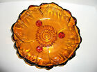 Amber Bowl Three Footed Petals Collections Indiana Colony Glass 11