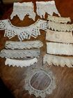 Lot of Antique CROCHETED TRIM, EDGING