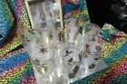 Libby glassware Golden foliage *1968 *frosted with gold leaf pattern 8 pc.+caddy