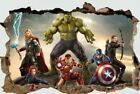 Iron man Hulk Captain America Thor Marvel Avengers Giant Wall stickers 3D super