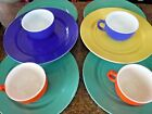 Vintage Hazel Atlas Colored Milk Glass Plates and Cups