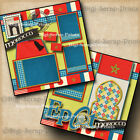 DISNEY EPCOT MOROCCO 2 premade scrapbook pages layout paper printed BY DIGISCRAP