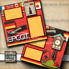 DISNEY EPCOT GERMANY 2 premade scrapbook pages layout paper printed BY DIGISCRAP