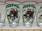 4 Libby Drinking Bar Glasses Tumblers CADILLAC 1904 Vintage collectable  #2