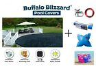 Buffalo Blizzard DELUXE Swimming Pool Winter Covers w Pillow Seal Closing Kit