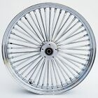 Chrome Ultima 48 Fat King Spoke 21 x 35 Front Dual Disc Wheel Harley 00 07