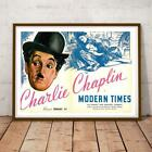 FILM CLASSIC COMEDY MODERN TIMES CHARLIE CHAPLIN 34X22 INCHES MOVIE POSTER P P
