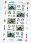 Austria 2004 Stamp day biplane sheet of 5 stamps and 5 labels fine mint