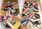 Primitive Crazy Sq. Quilt Top Godchaux Sugar Roller King Flour Bag Knoxville TN