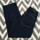 Levis Silvertab Mens 32x32 Dark Denim Blue Jeans Loose Baggy Sample Garment vtg