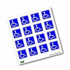 Disabled Wheelchair Symbol BLUE Set of 16 - Handicapped - Window Bumper Lapto...