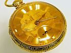 BEAUTIFUL MENS 18K SOLID GOLD HEAVY 16s  FUSEE  POCKET WATCH - EXCELLENT -106g