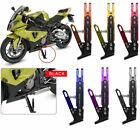 CNC Aluminum Alloy Motorcycle Side Stand Holder Adjustable Height 165-235mm US