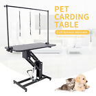 Portable Z Lift Hydraulic Grooming Table Dog Cat Pet w Adjustable Arm