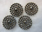 NICE SET OF 4 LARGE ANTIQUE/ VICTORIAN CUT STEEL BUTTONS