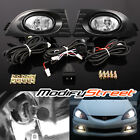 For 05-06 Acura Rsx Euro Clear Fog Lights Driving Bumper Lamps Harnessswitch