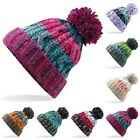 POM POM CABLE KNITTED BOBBLE HAT MENS WOMENS BEANIE WARM WINTER WOOLY