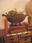 Adorable Rusty Antique Cast Iron URN Planter~ Old Time Worn Patina