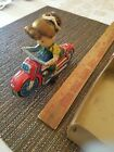 1960's Girl Cycle Tin friction Motrocycle Toy By HAJI..with BOX