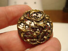 Antique brass IRIS/FLOWER design OPENWORK button