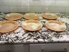Lot 6 Vtg Fire King Peach Luster Oven Ware Laurel Leaf 9