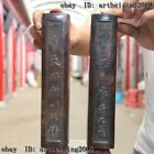Old China Folk Copper Bronze Calligraphy Tool Paperweight Town Ruler