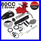 UPGRADED 80cc 2 Stroke Motor Engine Kit Gas for Motorized Bicycle Bike Red US SK