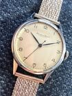 Rare 1940s Vintage IWC Calatrava Style Stainless Steel 'Portuguesier' Watch