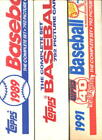 1987 1989 1991 Topps Baseball Card Complete Box set Collection FACTORY SEALED