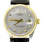 Rolex Date 1505 Mens Stainless Steel & 14K Yellow Gold Watch Slate Gray Dial