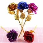 24k Gold Plated Rose Flowers Romantic Anniversary Mothers Day Girlfriend Gift US
