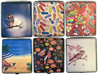 Eclipse Fun Design Beach Bird Leatherette Crushproof Metal Cigarette Case 100s