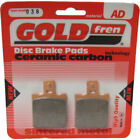 Rear Disc Brake Pads for Moto Morini 350 Excalibur 1990 344cc  By GOLDfren